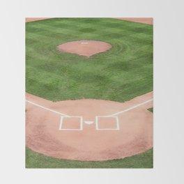 Baseball field Throw Blanket