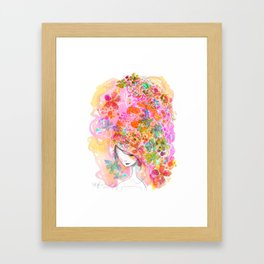 Bouffant Framed Art Print