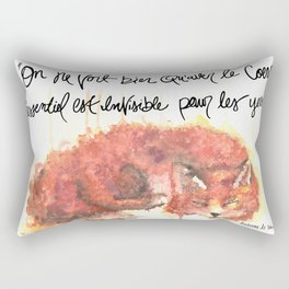 The Little Prince Quote, fox Rectangular Pillow