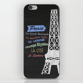 Paris Tourism Poster iPhone Skin