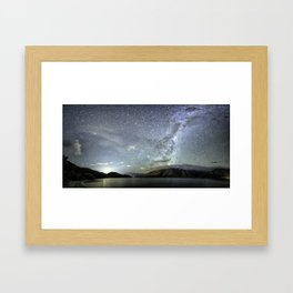 New Zealand Southern Hemisphere Skies Over Lake Wakatipu by OLena Art Framed Art Print