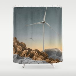 Above Mountains Shower Curtain