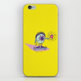 Apple of my Eye Idiom with Yellow Background iPhone Skin