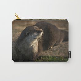 Otter Looking Into The Sunshine Carry-All Pouch