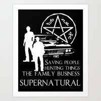supernatural Art Prints featuring Supernatural  by BehindSky