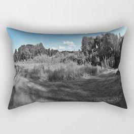 The Blue & The Gray Rectangular Pillow