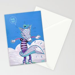 Le renard bleu. Stationery Cards