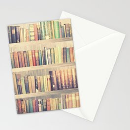 Dream with Books - Love of Reading Bookshelf Collage Stationery Cards