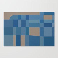 Palm Springs Blue Canvas Print