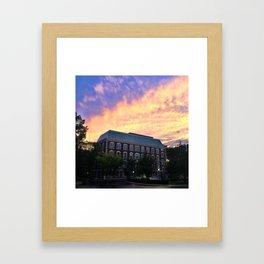 Hughes Hall at Fordham University - Rose Hill Framed Art Print