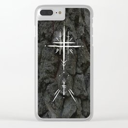 Rune Cross Clear iPhone Case