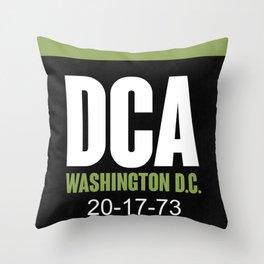 DCA Washington Luggage Tag 2 Throw Pillow