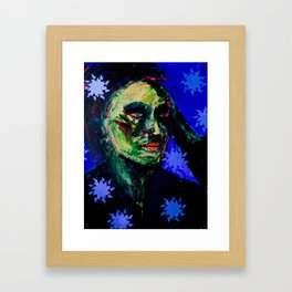 Cu Indigo Framed Art Print
