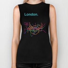 London Transit Map Biker Tank