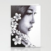 sakura Stationery Cards featuring Sakura by Nester Formentera