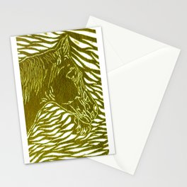 Abstract Silver Stationery Cards