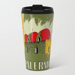 Retro Palermo Sicily hotel travel ad Travel Mug