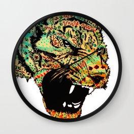 Sketch Patterned Tiger Head Wall Clock