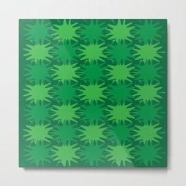 Green Splatter Metal Print