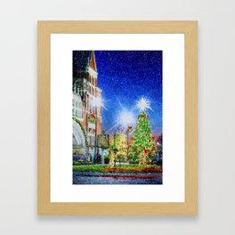 Home Town Christmas Framed Art Print