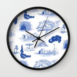 Pop Porcelain: Far Far Away Wall Clock