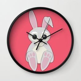 Forest Rabbit Nursery Set Wall Clock