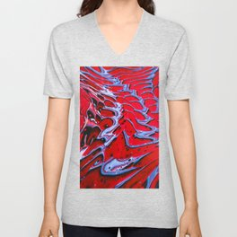 Crimson, Over and Over Unisex V-Neck