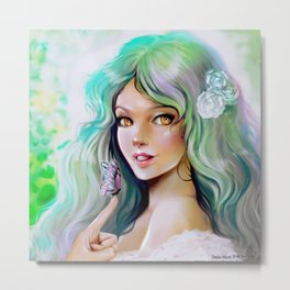miss butterfly Metal Print