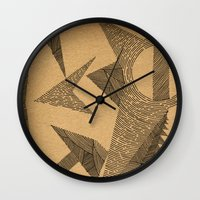 silence of the lambs Wall Clocks featuring - silence - by Magdalla Del Fresto