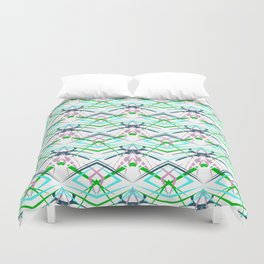 Abstractly geometric pattern . Duvet Cover