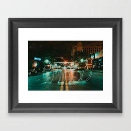 Downtown Fargo Framed Art Print