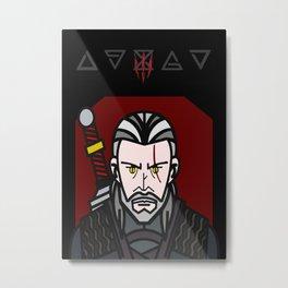 Geralt, the White Wolf Metal Print