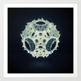 Icosahedron Bloom Art Print
