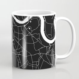 London Black on White Street Map Coffee Mug