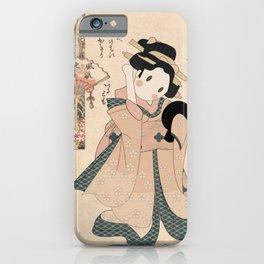 Japanese Culture - Cute Geisha Portrait iPhone Case