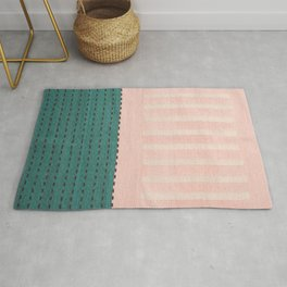 Anthropologie Traditional Moroccan Style Pink Texture (N28) Rug