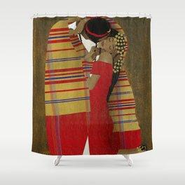 "Al Bousa ""The Kiss"" Shower Curtain"