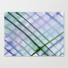 Intersection of greens || watercolor Canvas Print
