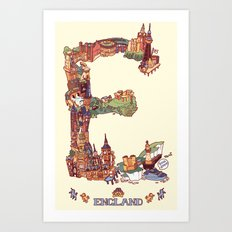E is for England Art Print