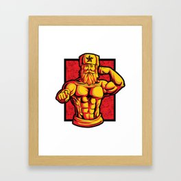 Soviets At The Gym | Fitness Training Muscles Framed Art Print