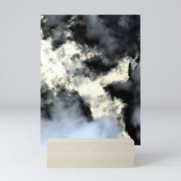 Smoke abstract Mini Art Print