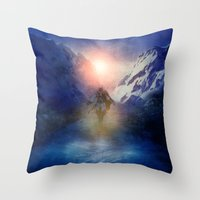 assassins creed Throw Pillows featuring Assassins Creed by Viviana Gonzalez