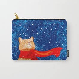 Tabby loves Snow... Carry-All Pouch