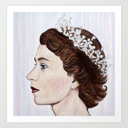 Elizabeth II Art Print