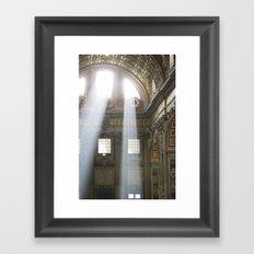Sun rays in the Vatican, Italy Framed Art Print