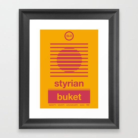 styrian buket single hop Framed Art Print