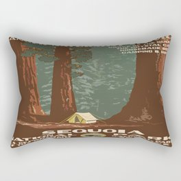 Vintage poster - Sequoia National ParkX Rectangular Pillow