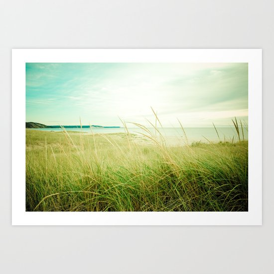 September at the Beach Art Print