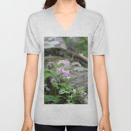 Purple Mountain Wildflowers Unisex V-Neck