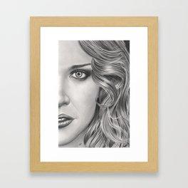 Half Portrait Framed Art Print